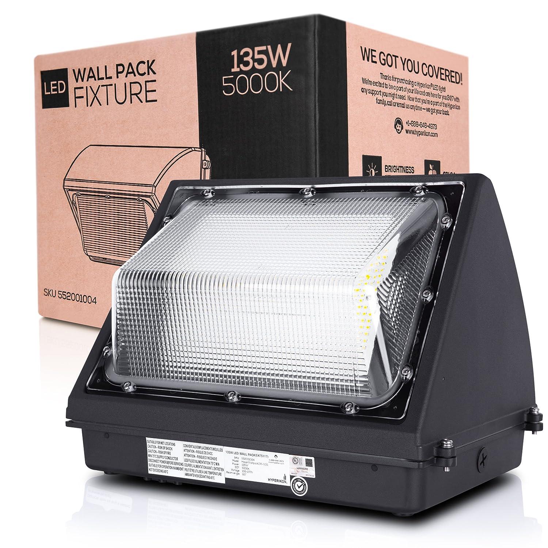 6500 Lumens DLC /& UL Hyperikon Inc. 5000K IP65 Waterproof Hyperikon LED Wall Pack 50W Fixture Commercial and Industrial Outdoor Lighting 260-325W HPS//HID Replacement