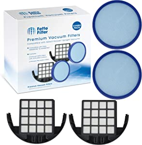 Fette Filter - Primary Filters & Exhaust Filters Kit Compatible with Hoover Vacuum Model #'s UH72630PC, UH72635, UH72600W, UH72630, UH72615 Compare to Part # 304087001 & 305687002 (Pack of 2)