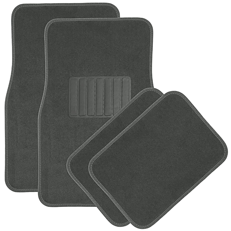 Rubber queen floor mats - Amazon Com Oxgord Universal Fit Front Rear 4 Piece Full Set Heavy Duty Economy Carpet Floor Mat Gray Automotive