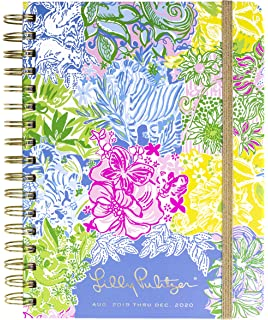 4e3260f1428dd8 Lilly Pulitzer Large Aug 2019 - Dec 2020 17 Month Hardcover Agenda, 8.88