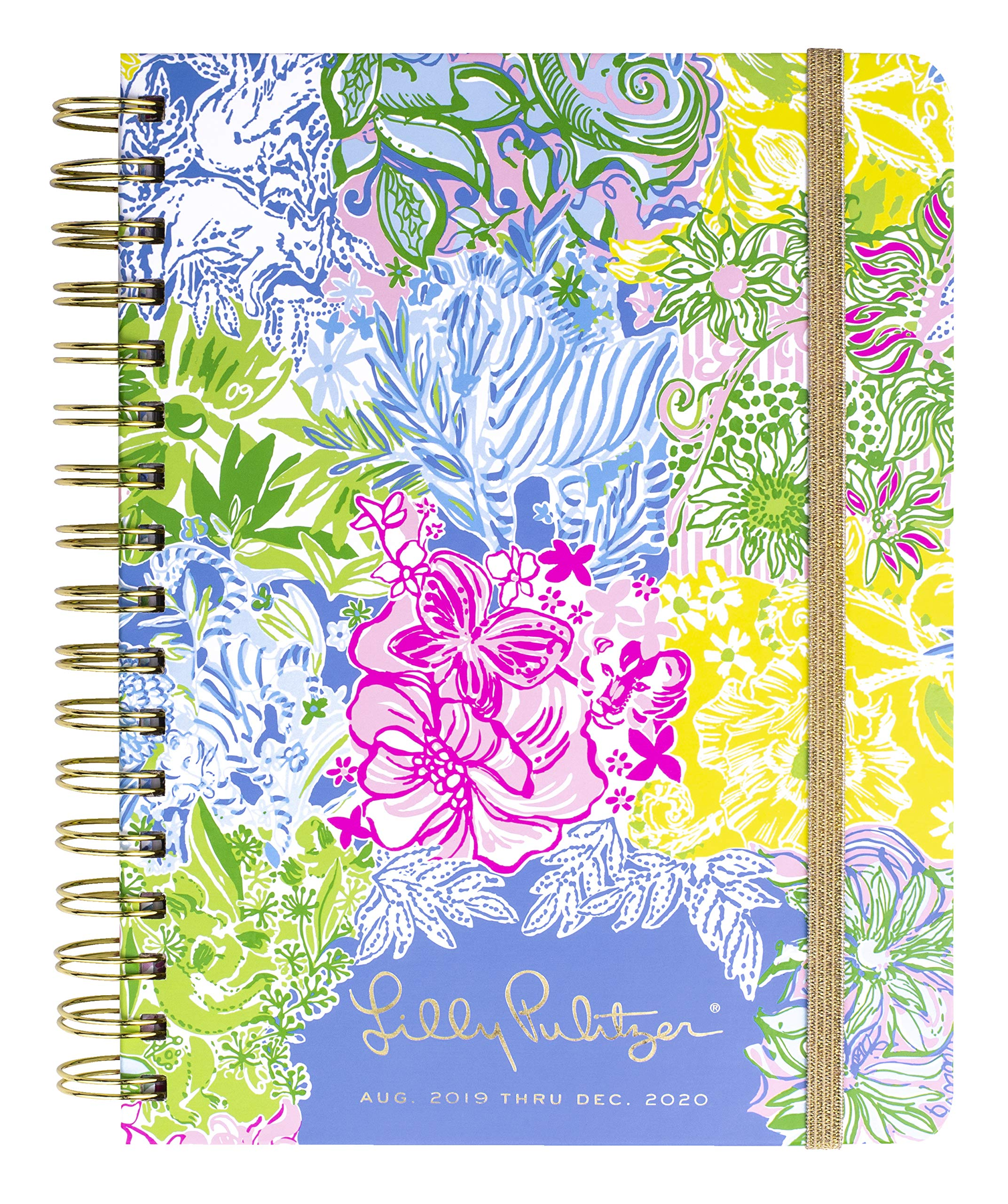 Lilly Pulitzer Large Aug. 2019 - Dec. 2020 17 Month Hardcover Agenda, 8.88'' x 6.75'' Personal Planner with Monthly and Weekly Spreads, Cheek to Cheek by Lilly Pulitzer