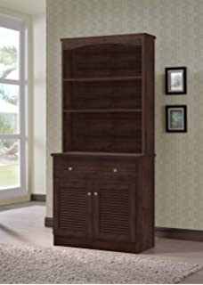 Wholesale Interiors Agni Buffet And Hutch Kitchen Cabinet Dark Brown