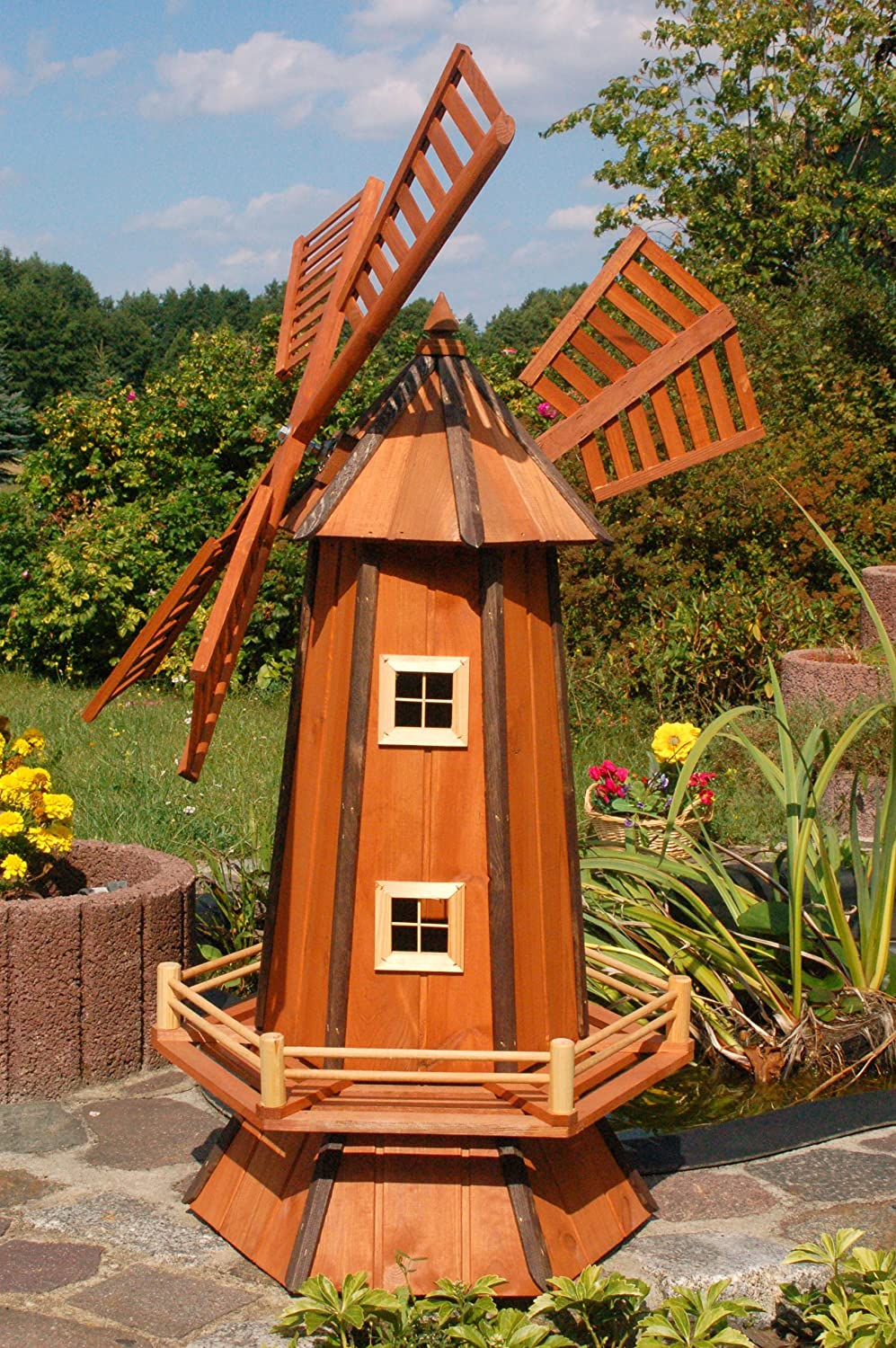 Huge Decorative Windmill Made Of Coated Wood With Ball Bearings 1.2 ...