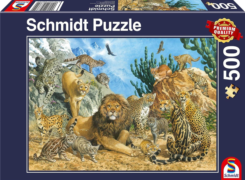 Schmidt Spiele 58372 - Puzzle (500 Piezas), diseño de Gatos ...