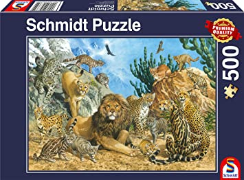 Schmidt Spiele 58372 - Puzzle (500 Piezas), diseño de Gatos Grandes: Amazon.es: Juguetes y juegos
