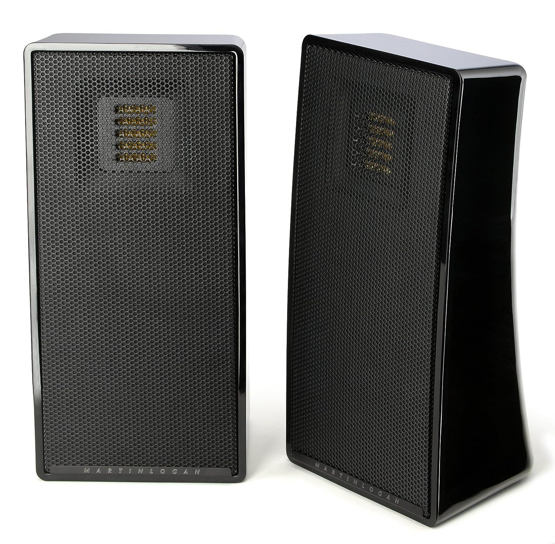 b motion martinlogan bookshelf each gloss speaker speakers logan martin black product