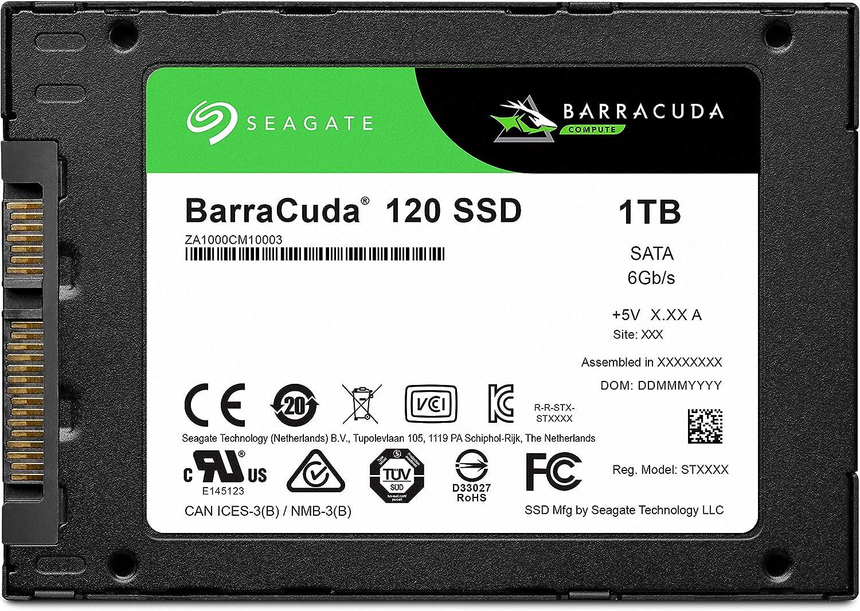 Seagate Barracuda 120 SSD 1TB Internal Solid State Drive – 2.5 Inch SATA 6GB/S for Computer Desktop PC Laptop (ZA1000CM10003)
