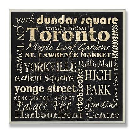 Amazon Com Stupell Home Decor Toronto Landmarks Square Wall Plaque