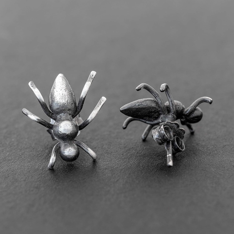 Pendientes minimalistas pendientes de hormiga pendientes de plata ...