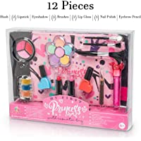12-Pieces FoxPrint My First Princess Make Up Kit for Kids