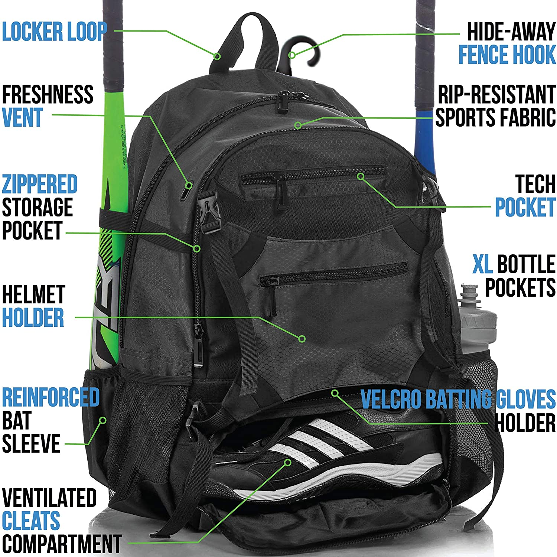Amazon.com: Athletico Advantage Baseball Bag - Mochila de ...