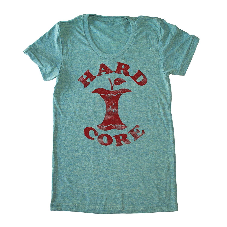 Women's Hardcore Apple Shirt - Funny Vegan T-shirt