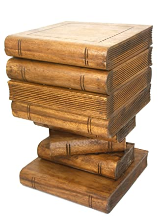 Amazing Solid Suar Wood Book Stack Storage Box Side Table Waxed Download Free Architecture Designs Fluibritishbridgeorg