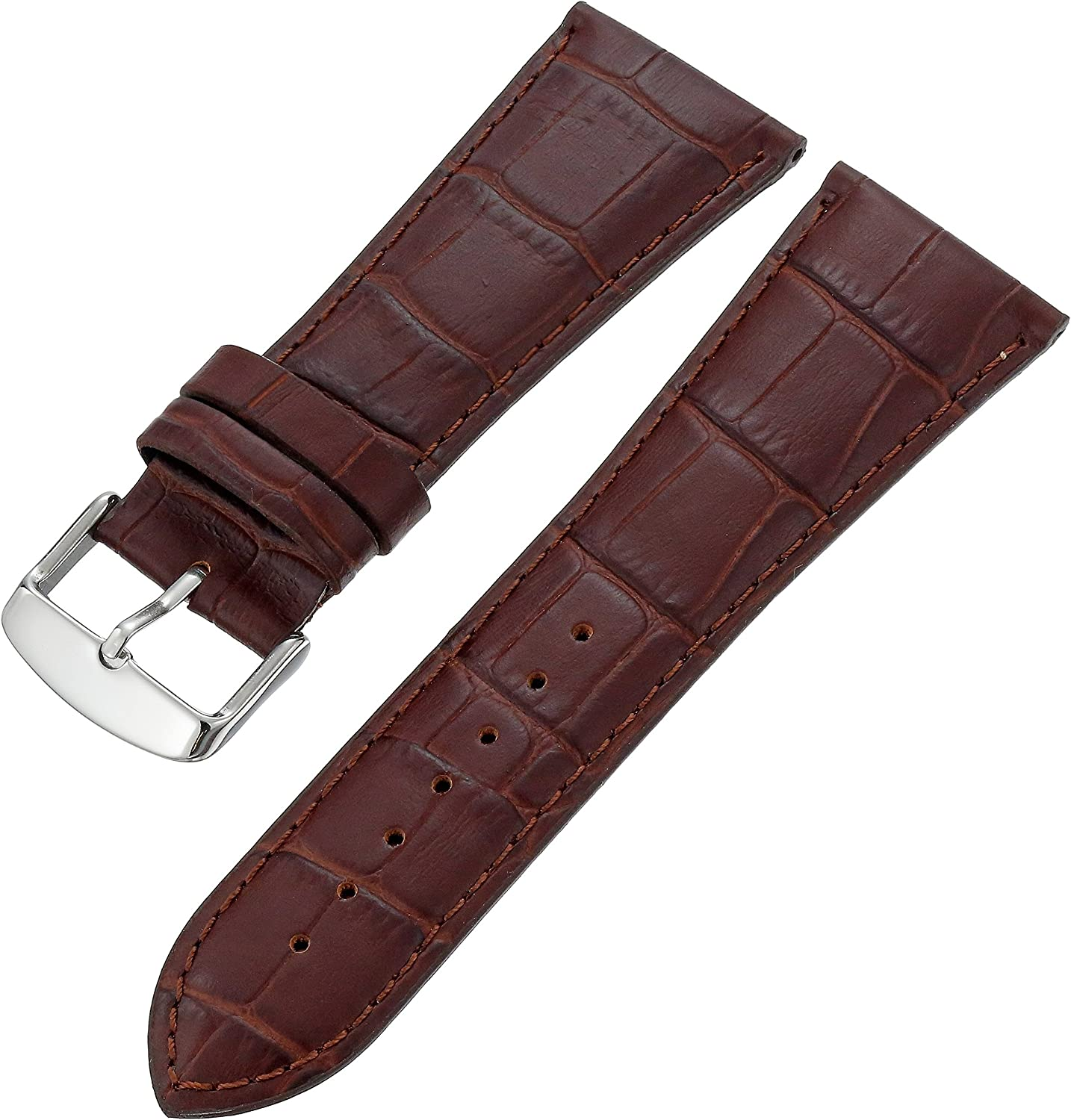 Hadley-Roma Men's MSM898RA-180 18-mm Black Alligator Grain Leather Watch Strap