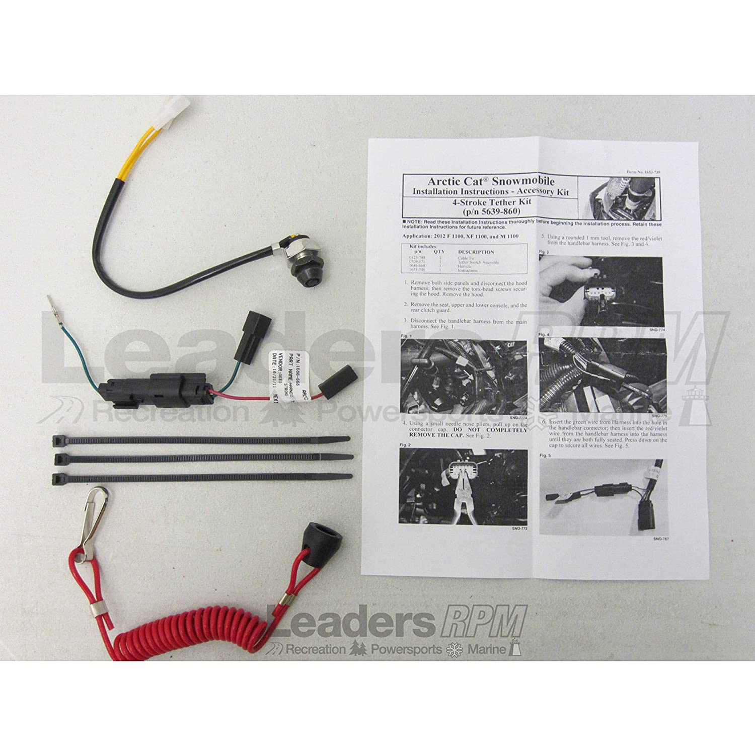 Arctic Cat New Oem Emergency Safety Engine Kill Stop Snowmobile 4 Stroke Wiring Diagrams Tether Switch Lanyard Kit Automotive