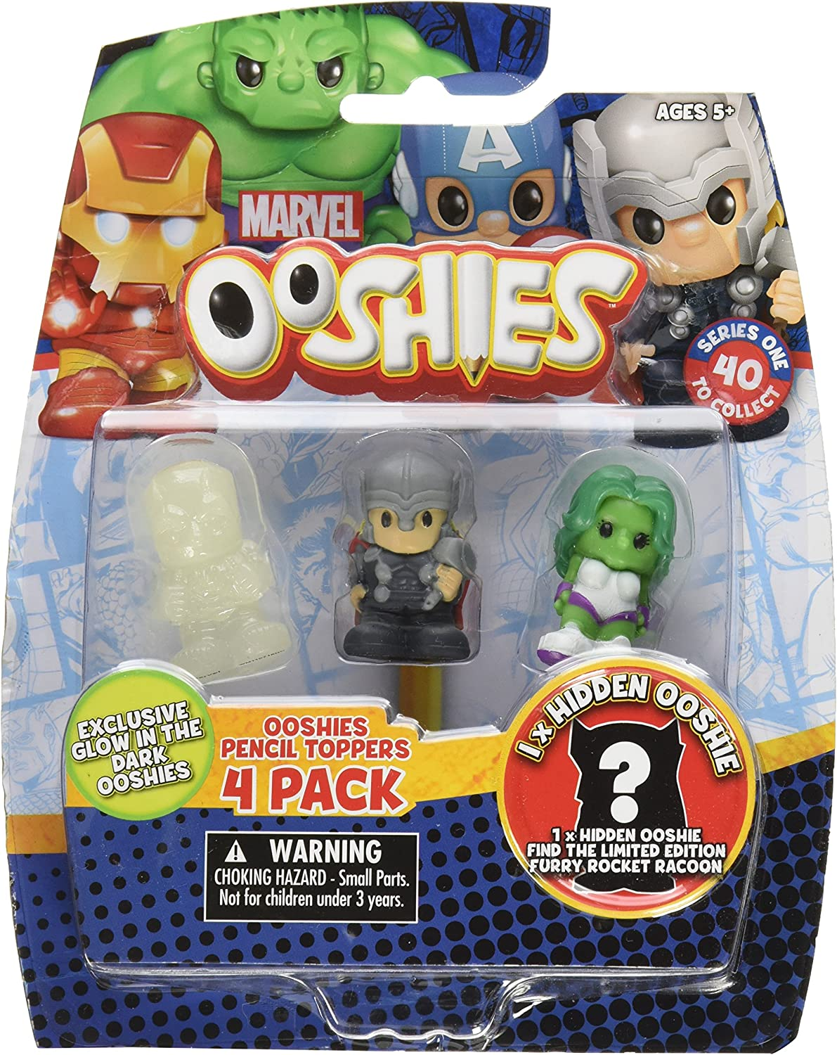 OOSHIES LIMITED EDITION SERIES 4 MARVEL HULK DC SUPER RARE