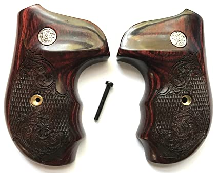 Amazon.com : Smith & Wesson S&W J Frame Grips Rosewood Checkered ...