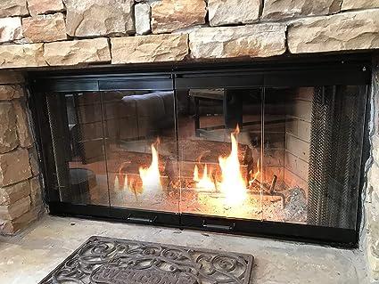 36u0026quot; Fireplace Glass Door Set To Fit Majestic Unit