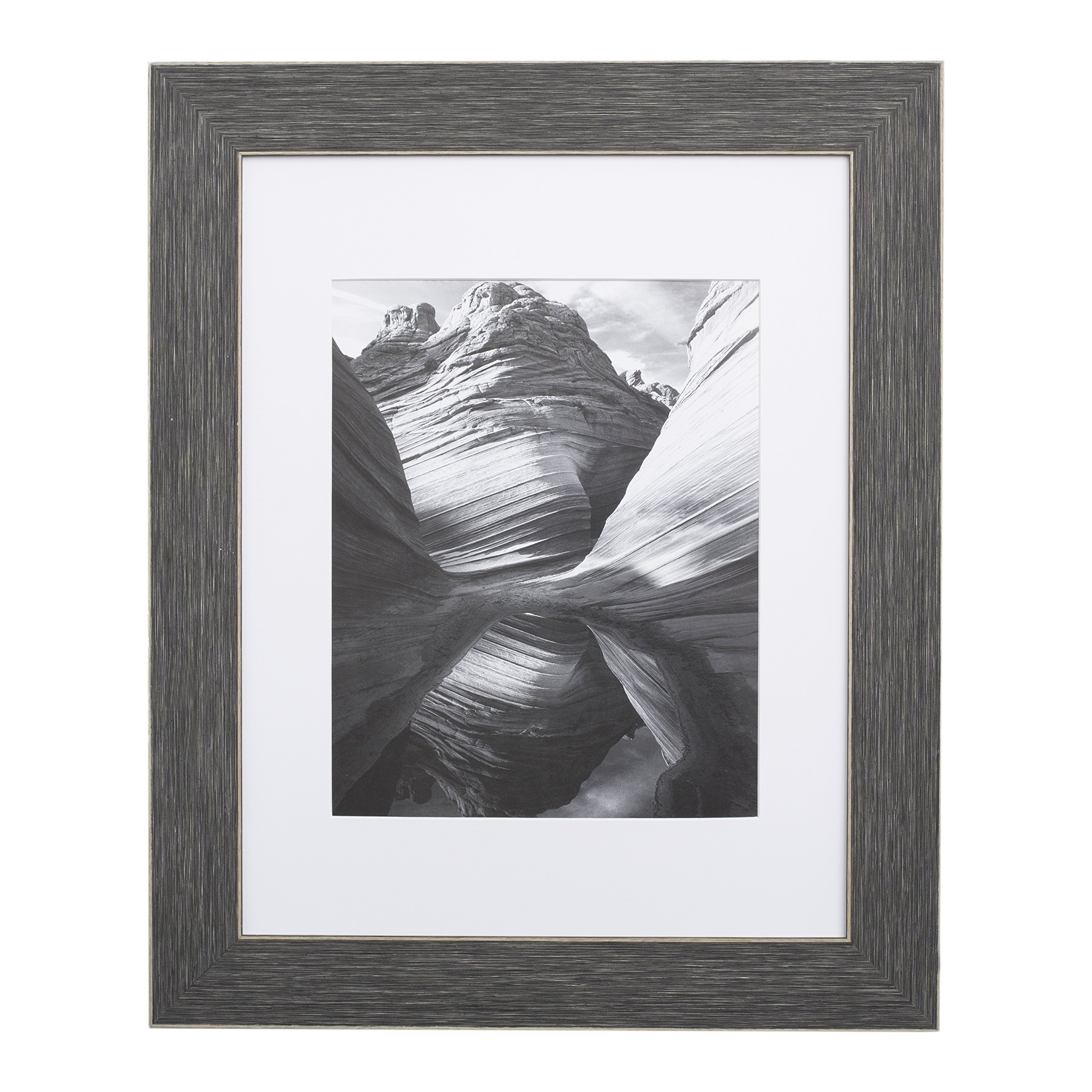 EcoHome 8x10 Picture Frame or Matted - for 5x7 Barnwood Grey