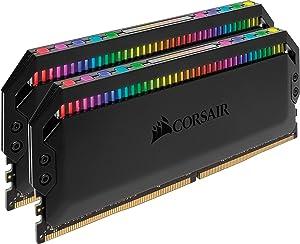 Corsair Dominator Platinum RGB 16GB (2x8GB) DDR4 3200 (PC4-25600) C16 1.35V Desktop Memory
