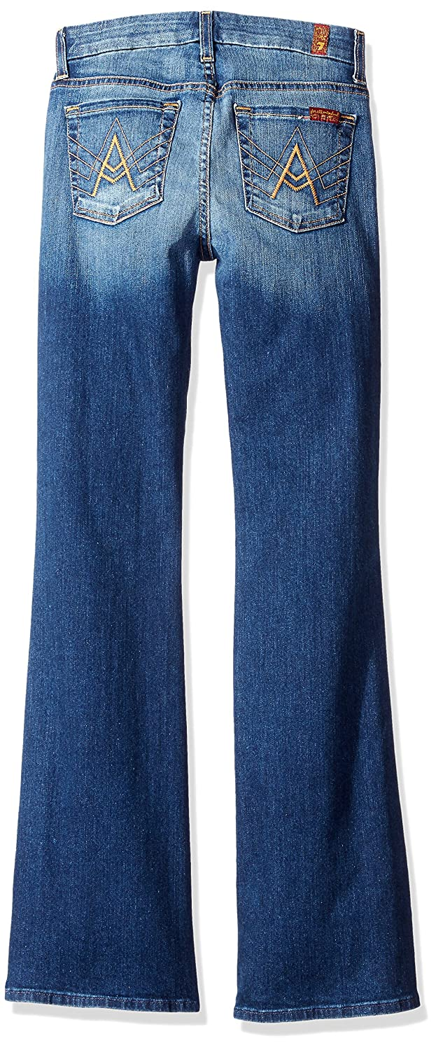 "7 For All Mankind Women's ""A"" Pocket Flare Jean in Bright Indigo, Bright Indigo Stretch, 34.5x31"