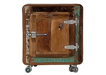 Mini Kühlschrank Nachttisch : Sit möbel fridge nachttisch recyceltes altholz bunt