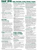 Microsoft Excel 2016 Tables, PivotTables, Sorting, Filtering & Inquire Quick Reference Guide - Windows Version (Cheat Sheet of Instructions, Tips & Shortcuts - Laminated Card)