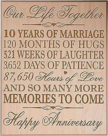 33 Anniversario Di Matrimonio.Decimo Anniversario Di Matrimonio Da Parete Regali Per Coppia