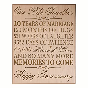 Amazon 10th Wedding Anniversary Wall Plaque Gifts For Couple