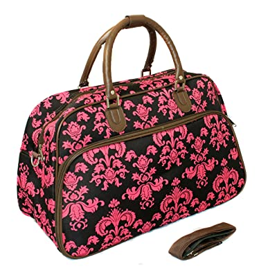1 Piece Brown Damask Carry On Duffle Bag 5aa7915400c8b