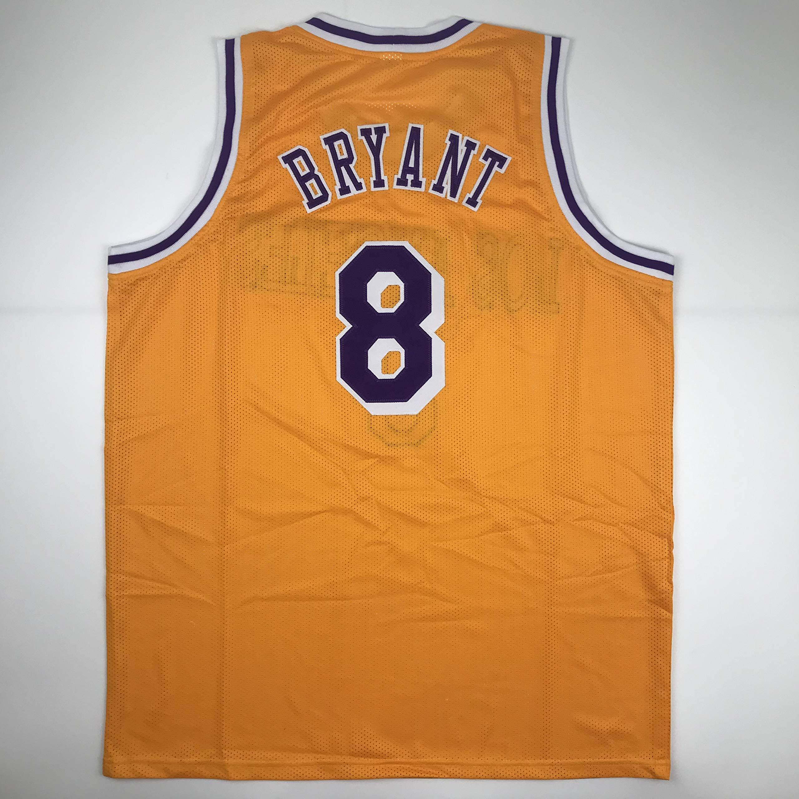 Unsigned Kobe Bryant #8 Los Angeles LA Yellow Custom Stitched ...