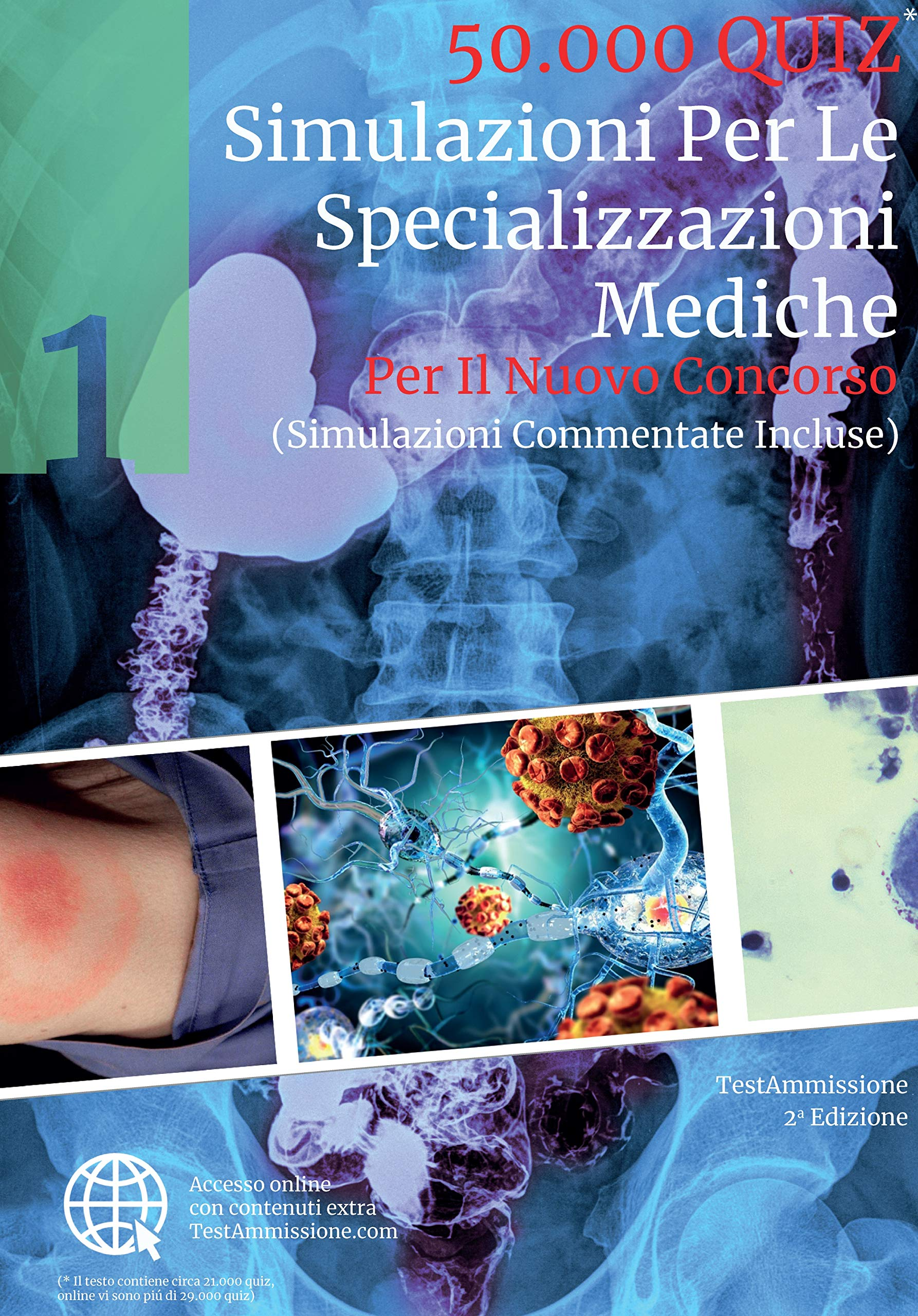 Amazon.it: Simulazioni per le specializzazioni mediche. 50.000 quiz. Con  espansione online - - Libri