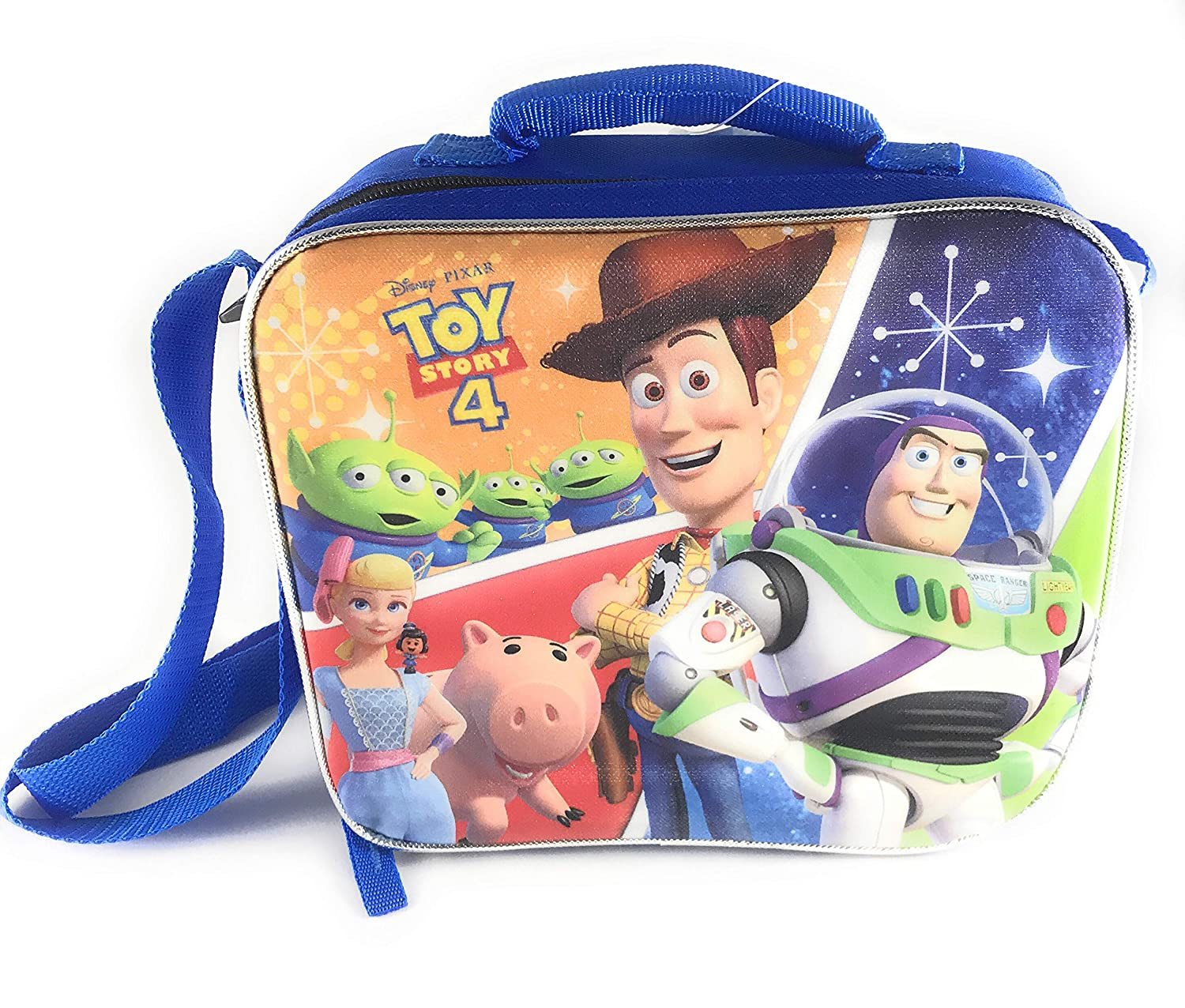 Bundle Includes Backpack Pencil Sharpener Lunchbox Folder and More Toy Story 4 Backpack /& Back to School Supply Set Pencils Eraser