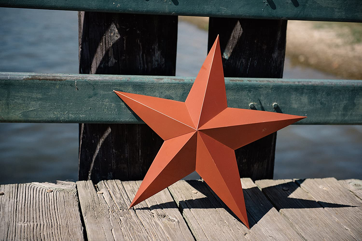 Amazon.com: Craft Outlet Tin Star Wall Decor, 24-Inch, Barn Red ...