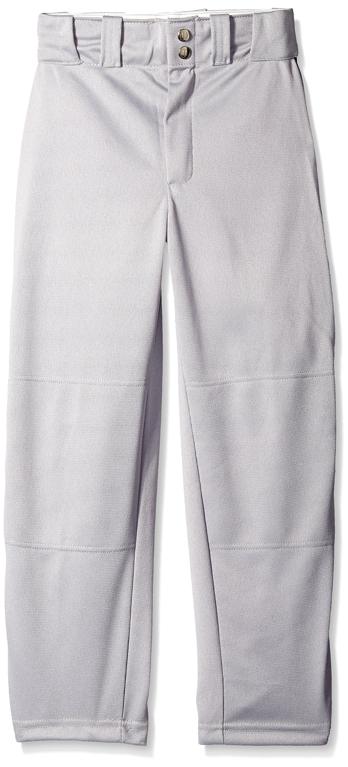 Wilson Youth Classic Relaxed Fit Piped Baseball Pant, Grey/Navy, Small by Wilson