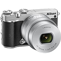 "Nikon 1 J5 + 1 Nikkor 10-30 mm VR PD-ZOOM Fotocamera Digitale ad Ottiche Intercambiabili, 20,8 Megapixel, Video 4K, LCD Touchscreen Basculante 3"", Argento [Versione EU]"