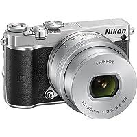 """Nikon 1 J5 + 1 Nikkor 10-30 mm VR PD-ZOOM Fotocamera Digitale ad Ottiche Intercambiabili, 20,8 Megapixel, Video 4K, LCD Touchscreen Basculante 3"""", Argento [Versione EU]"""