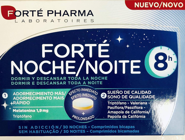 FORTÉ NOCHE 8H 30 comprimidos (Con melatonina,triptófano,GABA ...