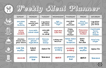 amazon com magnetic dry erase weekly meal planner 11x17 whiteboard