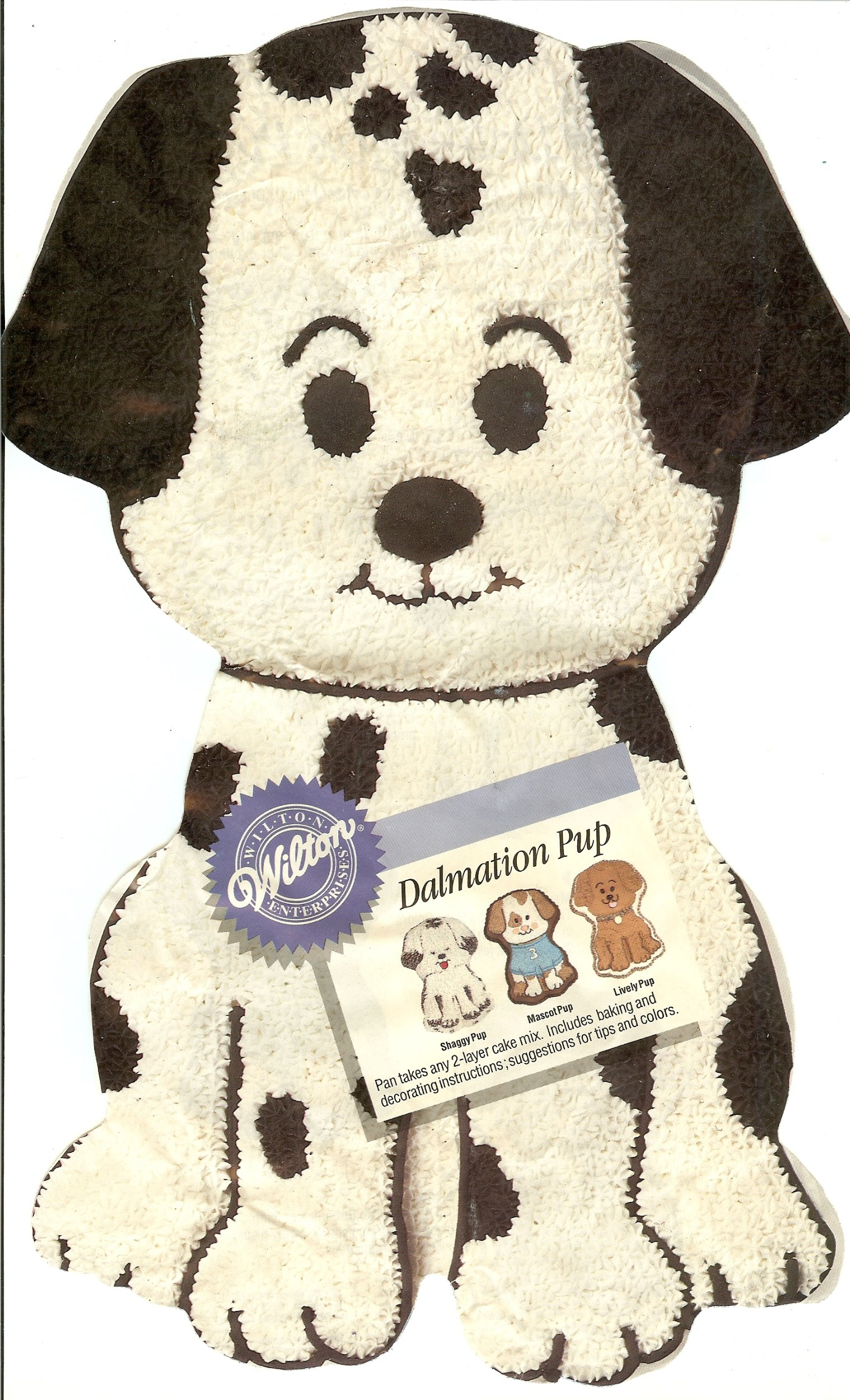 Wilton Dalmation Pup Puppy Dog Cake Pan (2105-9334, 1993)
