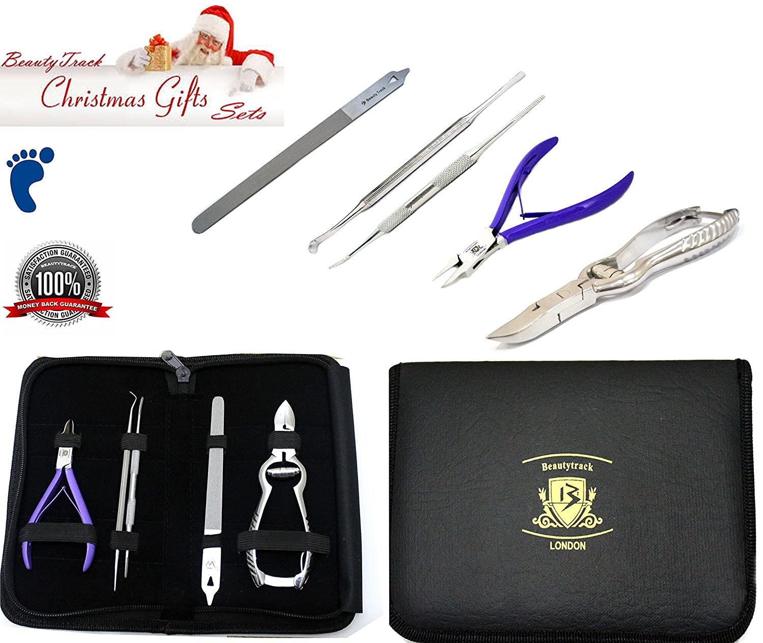 New Ingrown chiropody Podiatry toenail 5pc set podiatrist ingrown kit **GREAT OFFER ** Thick nail Cutter Clipper Set BeautyTrack