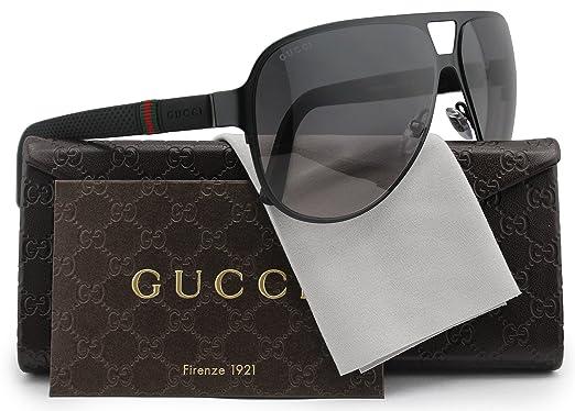 1f286069296d9 GUCCI GG2252 S Aviator Sunglasses Matte Black w Grey Gradient (0M7A) 2252 S  M7A EU 62mm  Amazon.co.uk  Clothing