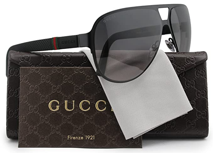 e338a3ff2a9 Image Unavailable. Image not available for. Colour  GUCCI GG2252 S Aviator  Sunglasses Matte Black w Grey ...