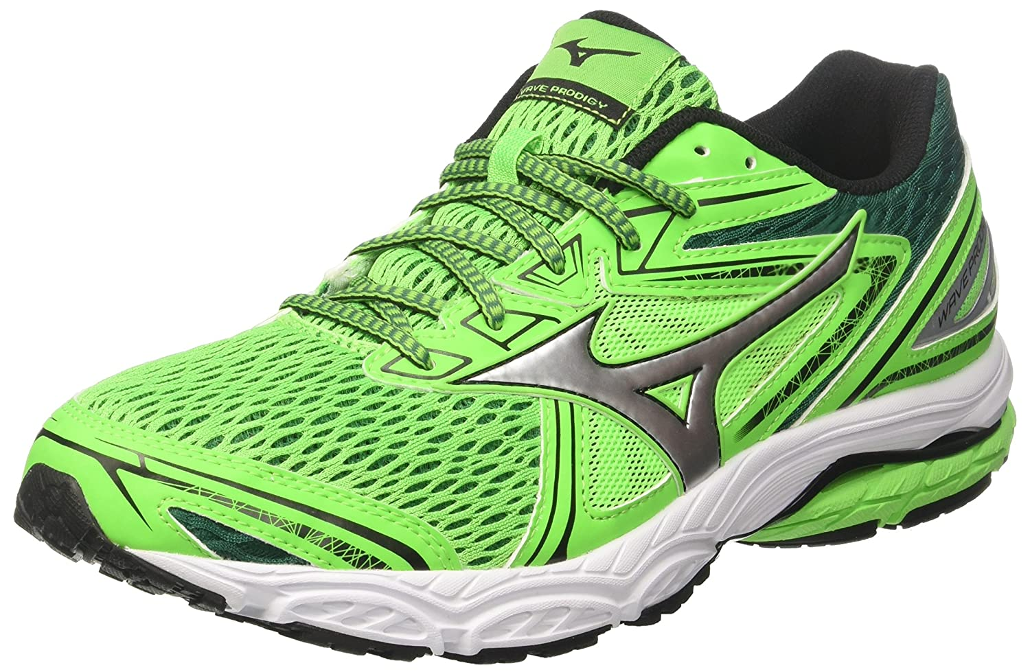 Mizuno Wave Prodigy, Zapatillas de Running para Hombre 46 EU|Multicolor (Greenslime/Silver/Evergreen 04)