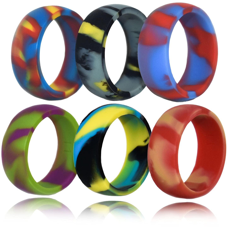 Amazon FluxActive Women Silicone Wedding Ring Band Black