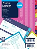 Filofax 19-6353 A5 Stripes Illustrated 2019 Diary Refill Pack