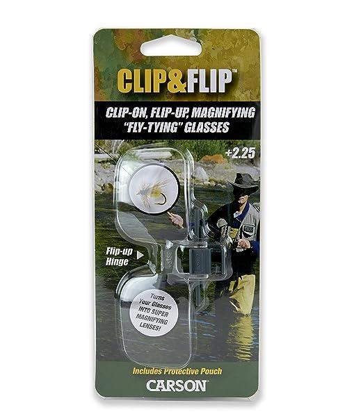 Carson Clip and Flip Lupa Abatible para Anteojos, Aumento de 2x (+4.00 Dioptrías)