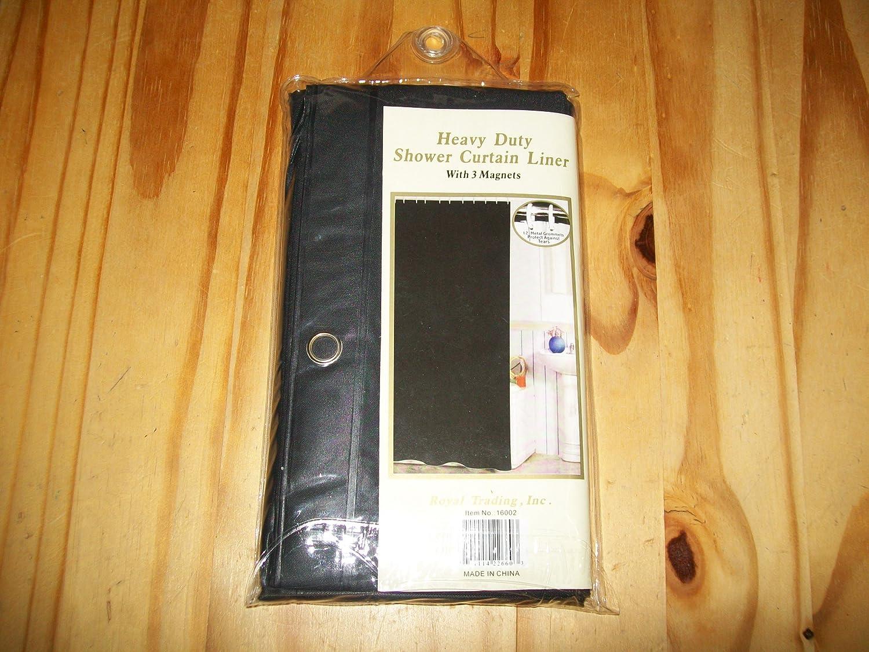 Amazon.com: BLACK Plastic Shower Curtain Liner & grommets: Home ...