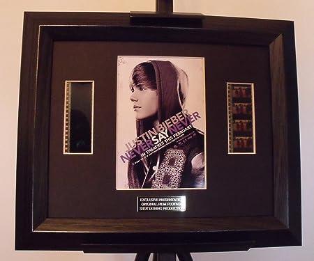 Justin Bieber Never Say Never Film Cell Framed: Amazon.co.uk ...