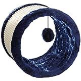 Trixie 4324 Spielrolle, Sisal/Plüsch ø 23 cm/20 cm, blau